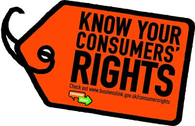 consumer law Find out about your consumer rights with goods and services.