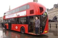 Old Etonian classics scholar, and Mayor of London, emonstrates the correct use of an omnibus